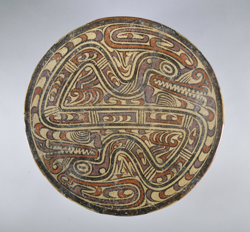 Vessel with Double-Headed Snakes-Caiman