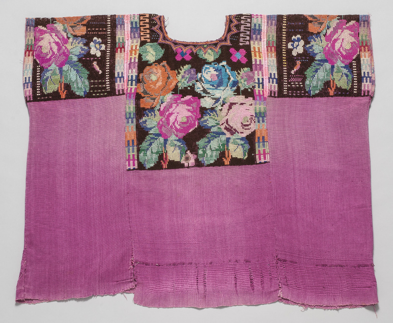 Woman's <em>Huipíl</em> (Blouse) with Pink Background