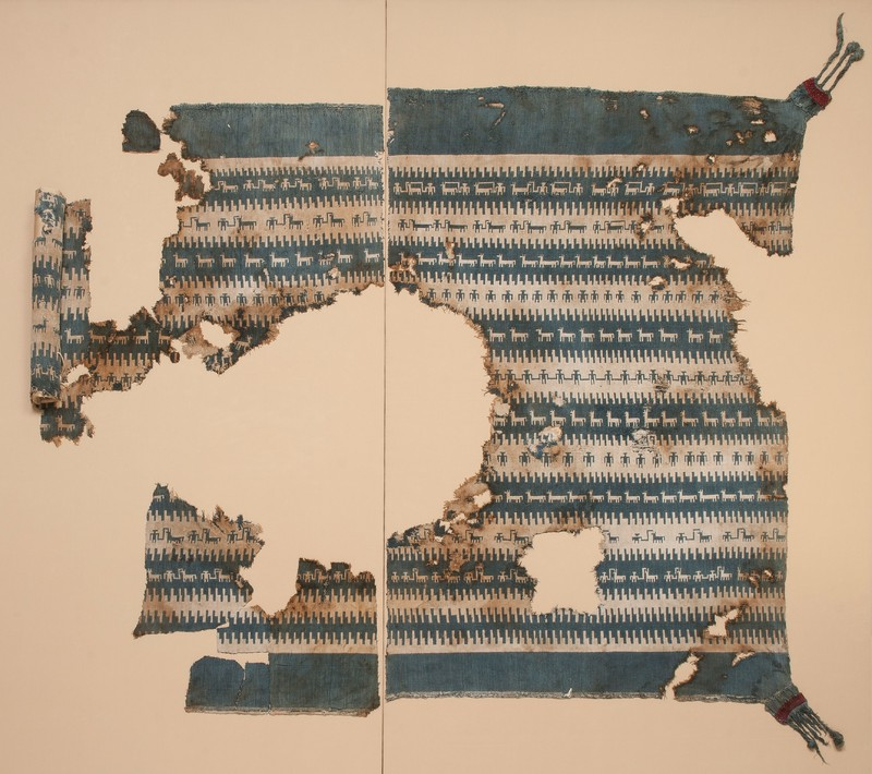 <p>Doublecloth Fragments with Llamas and Herders</p>