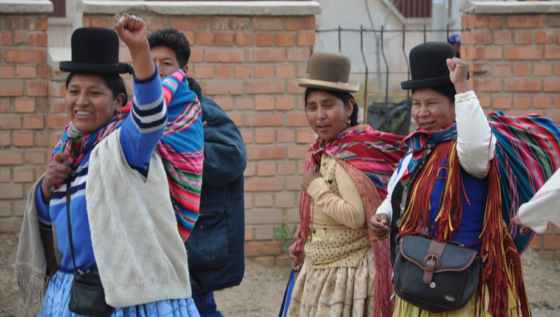 Bolivian Women, Norsk Folkehjelp Norwegian People's Aid