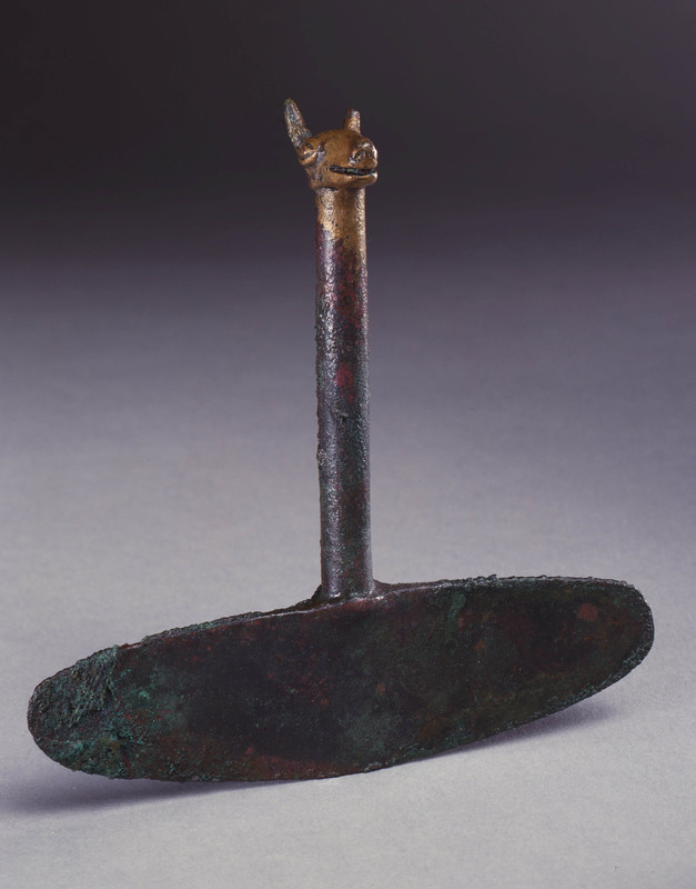 <em>Tumi</em> (Ceremonial Knife) with Llama Head