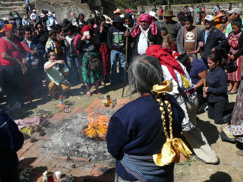 Outdoor Maya Ceremony