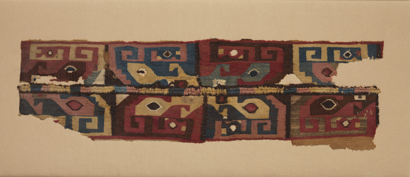 Tapestry Tunic Fragment with Faces