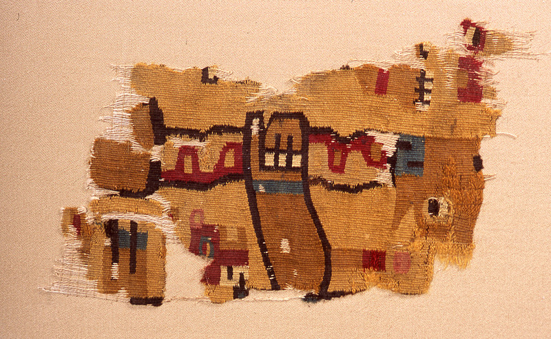 Tapestry Tunic Fragment with Staffbearer