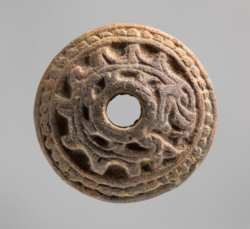 Spindle Whorl with Feathered Serpent