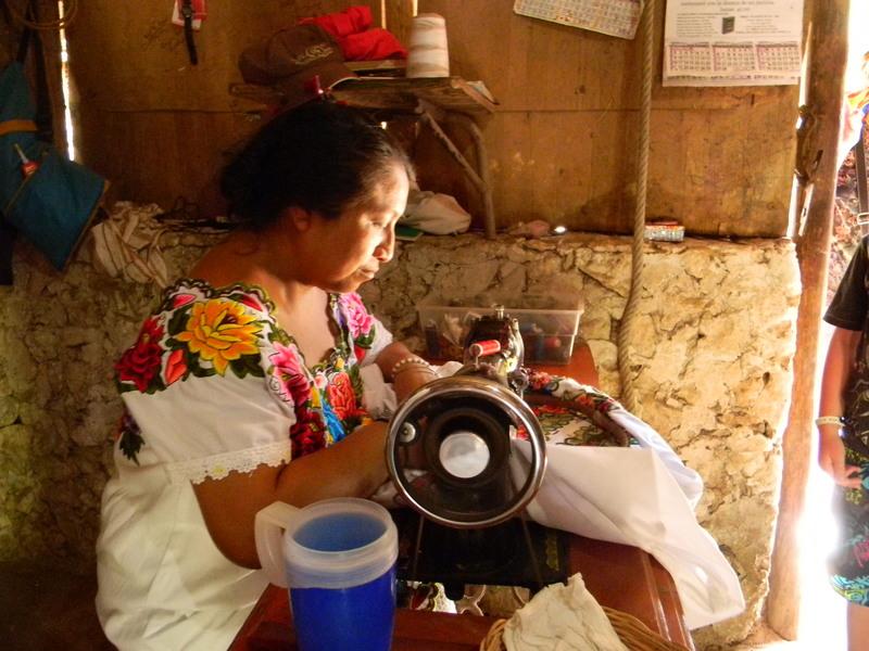 Maya Woman Sewing
