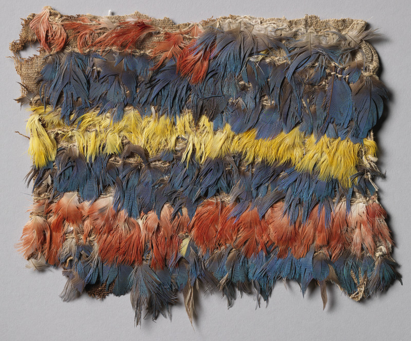 Tunic or Mantle Fragment with Multi-Color Feathers