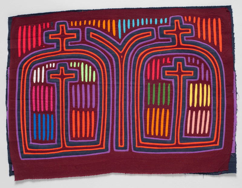 <em>Dulemola</em> (Blouse Panel) with Scene of Churches