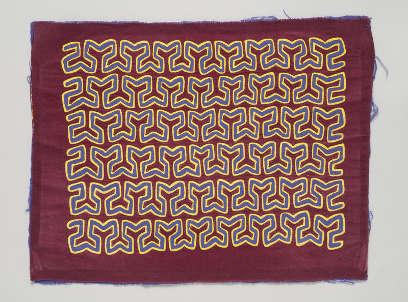 <em>Dulemola</em> (Blouse Panel) with Abstract Coral Patterns