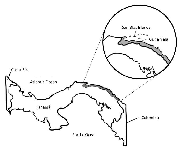 Guna Yala Map