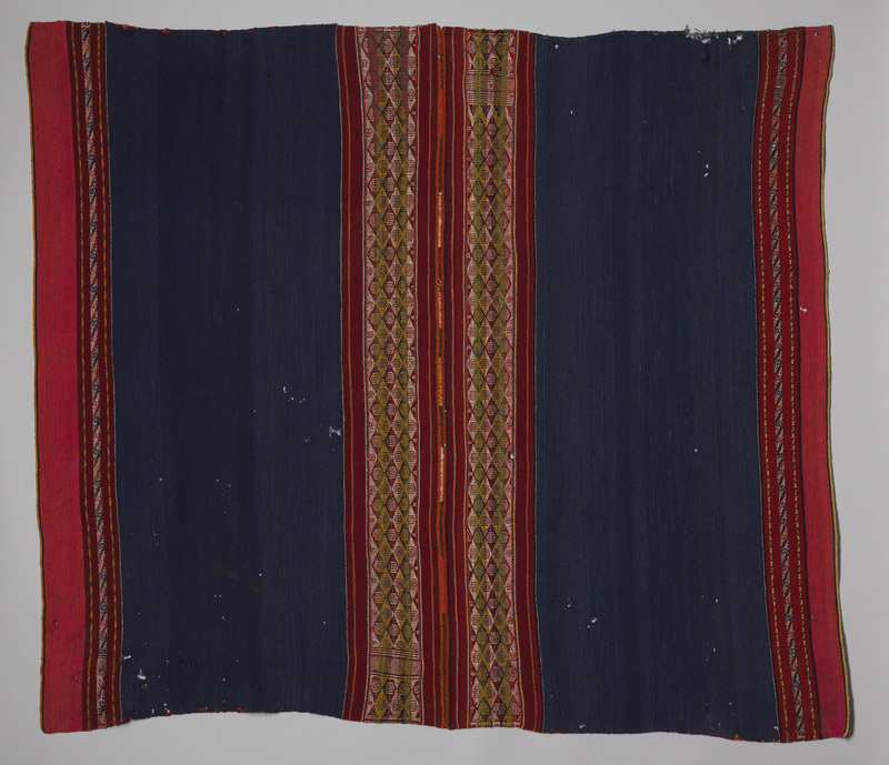 <p><em>Lliklla</em> (Woman's Mantle) with Indigo and Red</p>