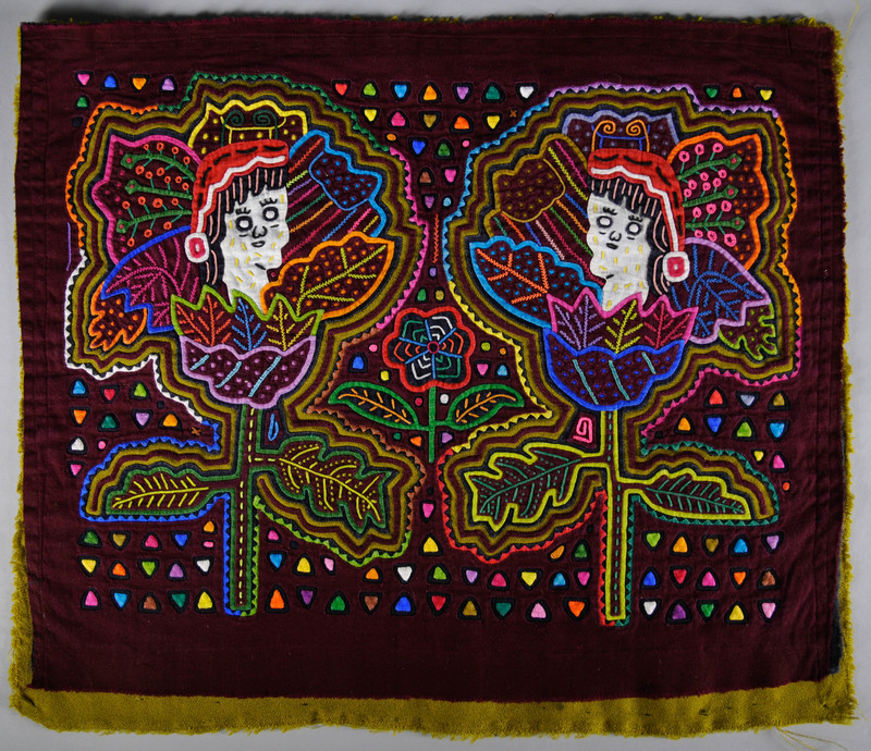 <em>Dulemola</em> (Blouse Panel) with Figures in Santa Hats