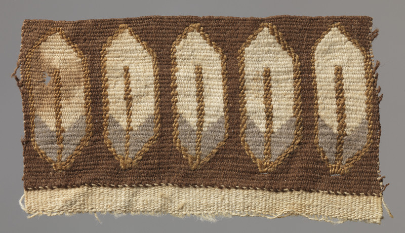 Tapestry Fragment Depicting Feathers