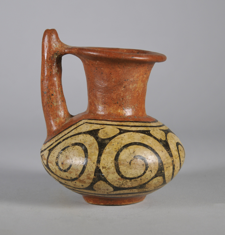 Double-Spouted Jar with Scroll Design