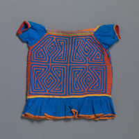 Girl's Blouse with Geometric Patterns