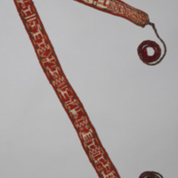 Chumpi (Belt) with Horse and Llama MotifsChumpi (Belt) with Horse and Bird Motifs