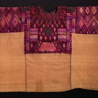 Ceremonial Huipíl(Blouse) with Cuyuscate(Natural Brown Cotton)
