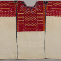 Ceremonial Huipíl (Blouse) with Long BrocadedCenter Panel