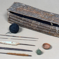Weaver's Work Basket and Contents