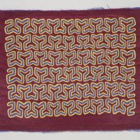Dulemola (Blouse Panel) with Abstract Coral Patterns