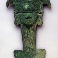 Tumi (Ceremonial Knife) in the Form of the Sicán Lord