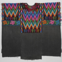 Woman's <em>Huipíl</em> (Blouse) with Black Background