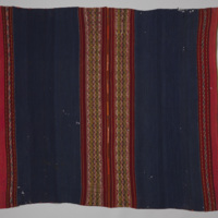 Lliklla (Woman's Mantle) with Indigo and Red